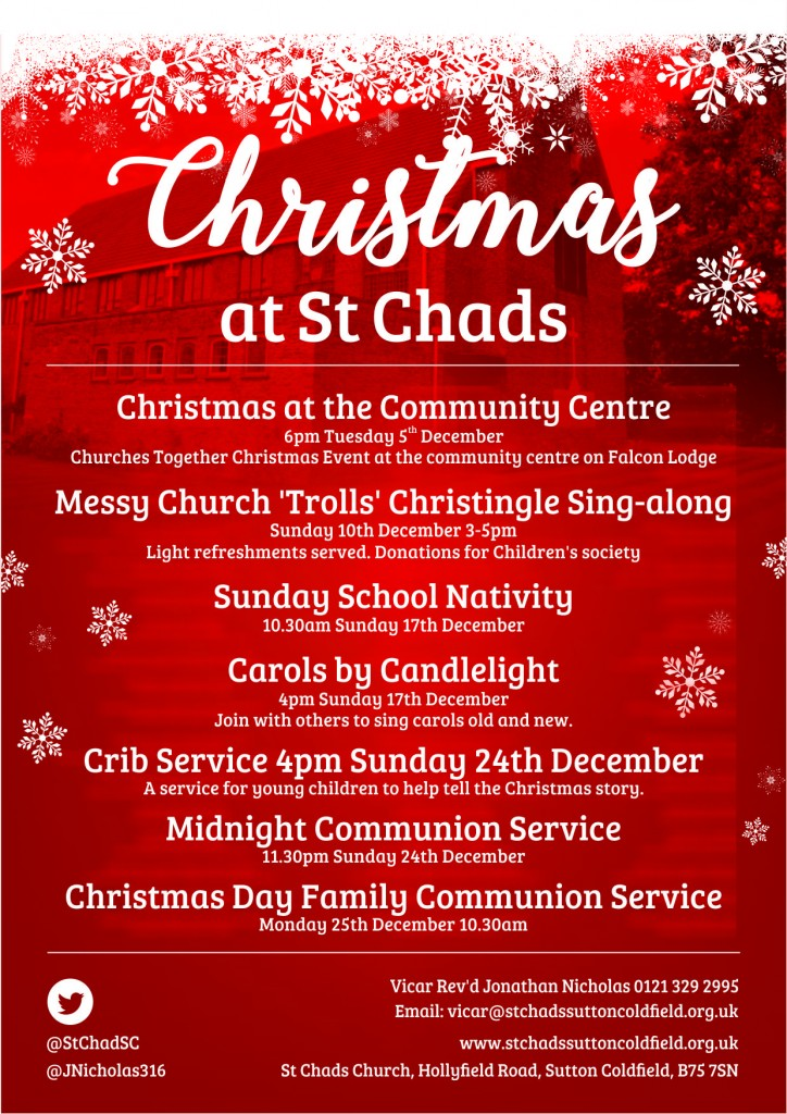 St Chads Christmas 2017 - Poster Final